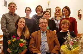 Bürgermeister Alois Scherer beglückwünschte die neu gewählte Vorstandschaft.