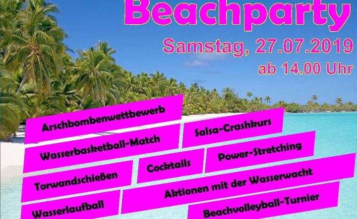 Beachparty im Naturbad