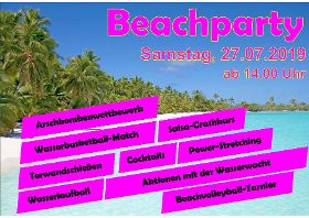 Beachparty im Naturbad
