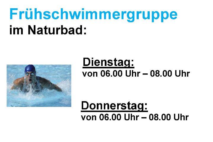 Frühschwimmergruppe im Naturbad