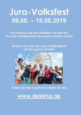Buslinien zum Neumarkter JURA-Volksfest