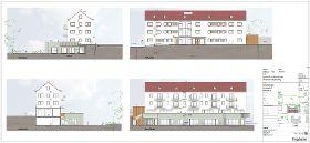 Planung zum Neubau einer weiteren KITA mit Sozialwohnungen.