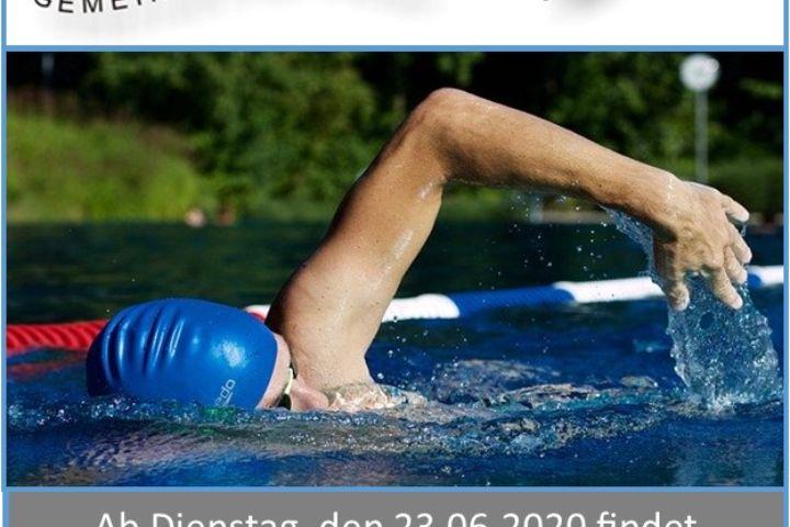 Frühschwimmer im Naturbad Deining