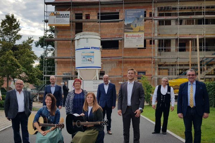 Richtfest am Neubau Kita mit gefördertem Wohnungsbau