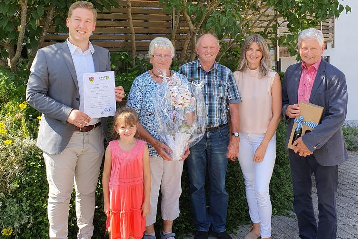 Walburga und Willibald Kienlein feiern Goldene Hochzeit