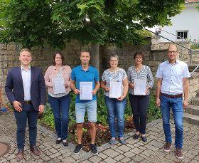 Mitglieder des OGV Unterbuchfeld bei Jahreshauptversammlung geehrt