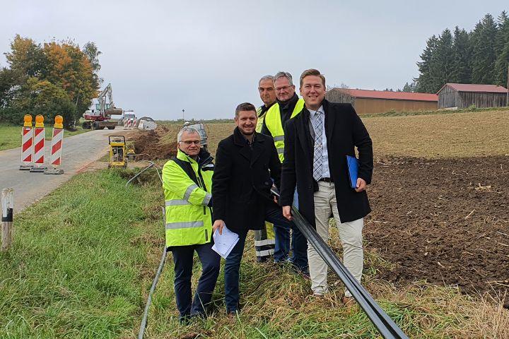 Baubeginn für neue Stromleitung nach Hacklsberg